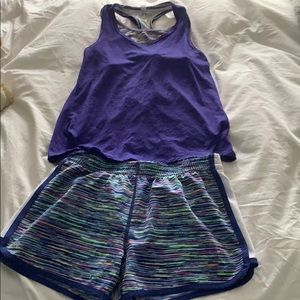 athletic set - shorts and top